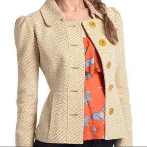 Tabitha brand wool blend peplum coat size 6